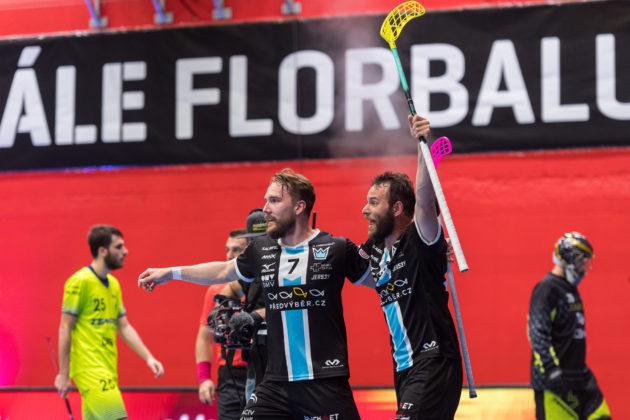 V zápase se střelecky prosadili jak Milan Tomašík, tak Jiří Curney. Foto: Martin Flousek, Český florbal