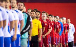 Česká reprezentace se naposledy utkala se Slovenskem v září 2020 na Podvinném mlýně. Foto: Martin Flousek, Český florbal