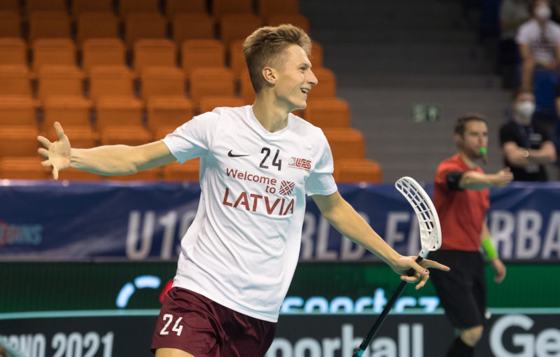 Lotyši nasázeli Slovákům 14 gólů. Foto: Martin Flousek, Český florbal