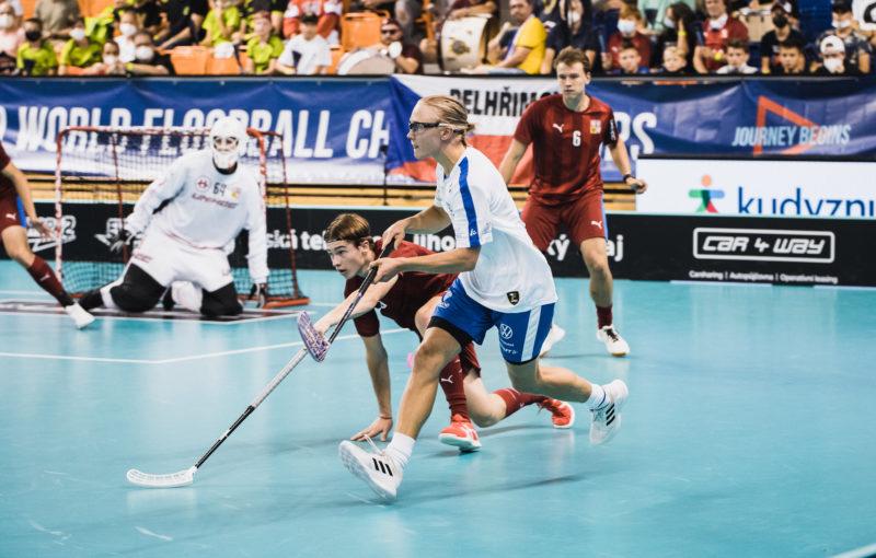 Alpo Laitila v utkání proti českému týmu. Foto: Salibandy.fi