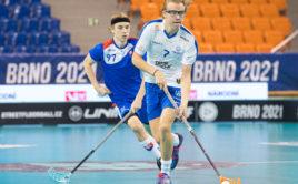 Šimon Batkovič v utkání proti Finsku. Foto: Martin Flousek