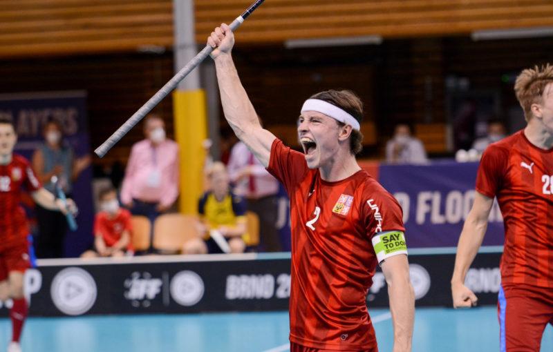 Kapitán českých juniorů Filip Forman vsítil v duelu se Švédskem jeden gól. Foto: Alena Zapletalová