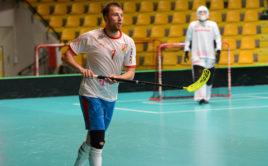 Adamu Delongovi se dařilo jak proti Polsku, tak hlavně proti Švýcarsku. Foto: Český florbal