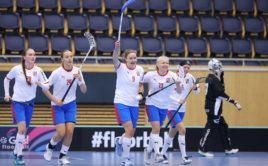 Eliška Chudá (9) slaví gól proti Slovensku. Foto: Adam Troy