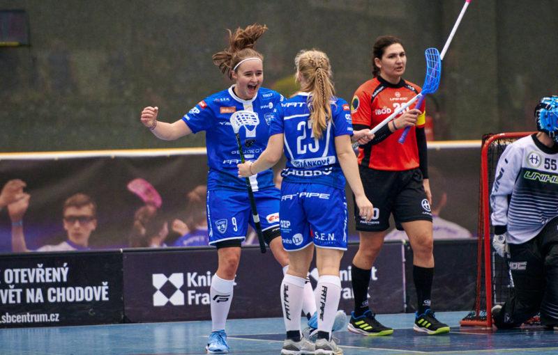 Eliška Trojánková se blýskla v duelu s Panthers hattrickem. Foto: Otakar Prášek