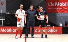 Josef Pluhař (vlevo) a Martin Pražan byli vyhlášeni nejlepšími hráči svých celků. Foto: Hans Mischler